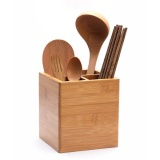 Sales Price Bamboo Utensils Forks Spoon Knives Chopsticks Cutlery Holder Organizer Drainer Intl