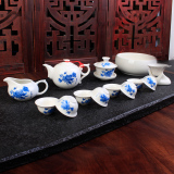 Shop For Bao Lin Ceramic Kung Fu Tea Set Glass Teapot Cup Tureen Tea Ru Ice Cr*ck Whole Sets Celadon