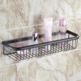 Who Sells Bathroom Accessories All Copper Bathroom Shelves Wall Gold Rose Gold Basket Antique Single Layer Basket 45Cm Black Bronze Intl The Cheapest