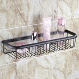 Best Offer Bathroom Accessories All Copper Bathroom Shelves Wall Gold Rose Gold Basket Antique Single Layer Basket 45Cm Black Bronze Intl