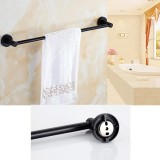 Sale Bathroom Accessories Hand Towel Rail Rack Hook Toilet Brush Paper Holder Black Intl China