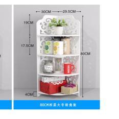 Price Rc Global Bathroom Corner Triangle Pvc Rack Shelf Organizer 4 Tier 80Cm Size L Code 41 Rc Global
