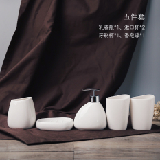 Sale Simple European Style Ceramic Washed Bathroom Five Piece Online China