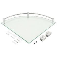 Where Can I Buy Bathroom Glass Triangular Wall Mount Corner Shelf Rack Storage Organizer Holder 25Cm Intl