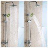 Bathroom Round Spray Rain Rainfall Top Shower Head Hand Held Shower Head Set Intl Online