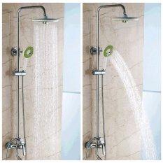 Bathroom Round Spray Rain Rainfall Top Shower Head Hand Held Shower Head Set Intl Coupon