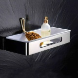Low Price Bathroom Shelf Thickened Stainless Steel Square Single Layer Storage Rack Bathroom Accessories 34 9Cm 13 7Cm 6Cm Intl