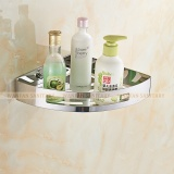 Discounted Bathroom Shelves Stainless Steel Corner Shelf Shower Caddy Storage Shampoo Basket Wall Kitchen Corner Sticky Holder Intl