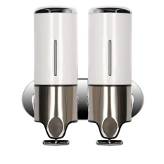 Purchase Bathroom Shower Wall Mounted Soap Gel Dispenser Stainless Steel Shampoo Lotion Pump White Intl Online