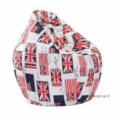 Bean Bag Chair - England Flag Print