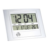Get The Best Price For Beau Self Setting Digital Lcd Home Office Decor Wall Clock Indoor Temperature Intl