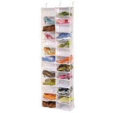 Sale Beau Shoe Rack Storage Organizer Holder Folding Hanging Door Closet 26 Pocket White Intl Online China