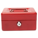 Beautymaker Stainless Steel Metal Petty Cash Box Lock Bank With Tray For Safe Money Coins Jewelry Bill Key Security Red Price Comparison