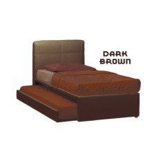 Deals For Bed Frame Mattress Alonso Quality Divan Bedframe With Pull Out Bed Super Foam Hdf Mattress Brown
