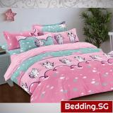 Buy Bedding Sg Fitted Bed Sheet Set Polyester Bedsheet Cute Cat Design Online Singapore