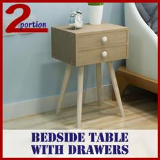 Bedside Table With Drawer 1 Drawer Small Light Brown Free Shipping