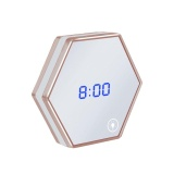 Belle Unique Led Night Light Clock Thermometer Mirror Glass Digital Alarm Clock Intl Shop