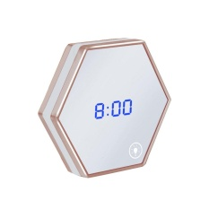 Sale Belle Unique Led Night Light Clock Thermometer Mirror Glass Digital Alarm Clock Intl China Cheap