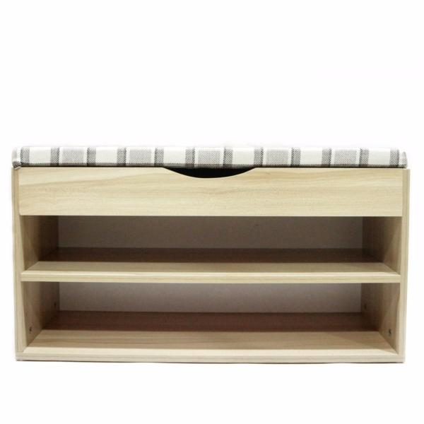 Bench with Shoe Storage (Ash Wood Color)