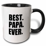 Best Papa Ever Gifts For Dads Father Nicknames Fathers Day Black Text Two Tone Black Mug 11Oz Intl Sale
