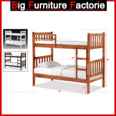 BFF-24-DD Solid Wooden Bunk Bed with Pull Out Bed