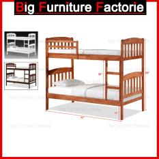 BFF-43-DD Solid Wooden Bunk Bed with Pull Out Bed
