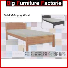 BFF-8100-WB Solid Mahogany Wooden Bed