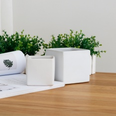 Big size Gold/sliver Indoor Small Plant Vase Pure Green/white/black Flowers Plants Pot Luxury Plating Ceramic Craft Elegant Life Suppl - intl
