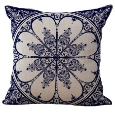 Bigood Chinese Blue And White Porcelain Pillow Case Pillow Cover Throw Cushion Case 45x45cm C - Intl By Bigood Online.