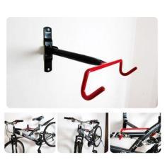 Bike Rack Wall Mount Garage Bicycle Storage Hanger Hook Holder Shelf for Indoor Space Saving Color:Red hook frame Size:F
