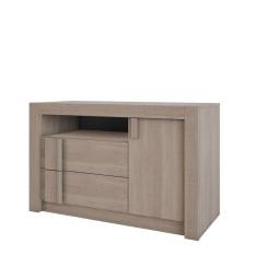 Bilrich Furniture Boston - 2 drawers + 1 door cabinet Brown