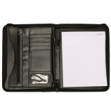 Wholesale Black A4 Executive Conference Folder Pu Portfolio Zipped Folio Leather Organiser