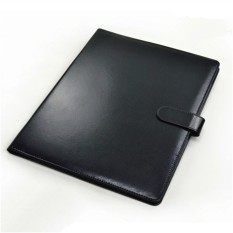 Black A4 Zipped Conference Folder Business Faux Leather Document File Portfolio Export In Stock