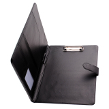 Black Business A4 Executive Conference Folder Portfolio Clipboard Pu Leather Sale