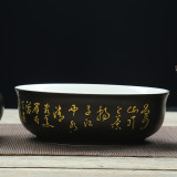 Store Black Ceramic Clay Ceramic Gift Tea Cup Tureen Oem On China