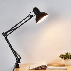 Black Flexible Swing Dual Arm Clamp Mount Lamp Light Table Lighting Home Office - intl