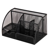 Sales Price Black Metal Mesh Multi Functional Home Office Desk Supplies Stationery Pen Storage Organizer Holder Stand Intl