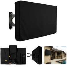 Black Waterproof Oxford Outdoor TV Cover Protector For 55-58 Inch Television - intl