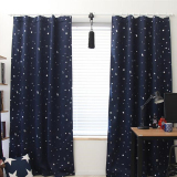 Blackout Thermal Solid Window Curtai Dark Blue Cheap