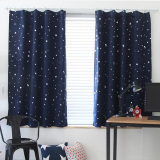 Cheap Blackout Thermal Solid Window Curtains Dark Blue Online