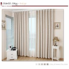 Blackout Window Curtain New Design Hook Type Beige 1 5 2 5M Deal