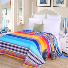 New Blanket Warm Blankets Fleece Plaid Super Warm Soft Comfortable Throw On Sofa Bed Plane Travel Plaids Patchwork Stripe