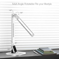 Top Rated Blitzwolf Bw Lt1 Eye Protection Smart Led Desk Lamp Table Lamp Light Rotatable Dimmable 2 1A Usb Charging Us Intl