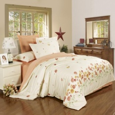 Discount Blq 100 Cotton A B 2 Tone Pattern Duvet Cover For All Size Bed Light Yellow Flower Appointment Intl Oem Singapore