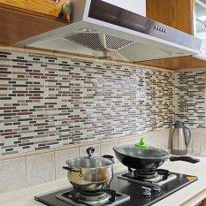 Bluelans® 3D Tile Pattern Kitchen Backsplash Stickers Mural Wall Decals - intl