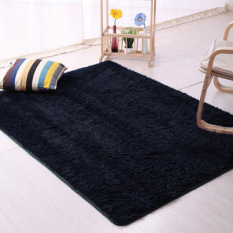 Bluelans® Livingroom Flokati Shaggy Anti-Skid Carpet 120cm by 160cm - Black