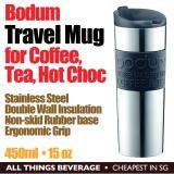 Best Offer Bodum Travel Coffee Tea Mug Stainless Steel Vacuum Double Wall Insulation 450Ml 15 Oz Black Cheapest In Sg