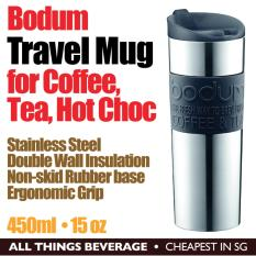 Sales Price Bodum Travel Coffee Tea Mug Stainless Steel Vacuum Double Wall Insulation 450Ml 15 Oz Black Cheapest In Sg