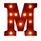 Bolehdeals 12 Red Led Letter Light Vintage Circus Style Alphabet Light Up Sign M Intl Lower Price