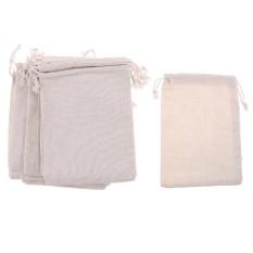 BolehDeals 12pcs Cotton Line Plain Drawstring jewelry Pouch Bag Storage Bag 13 x 18cm - intl